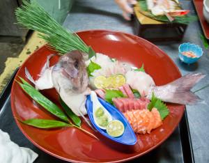 食い初め 鯛のお造り